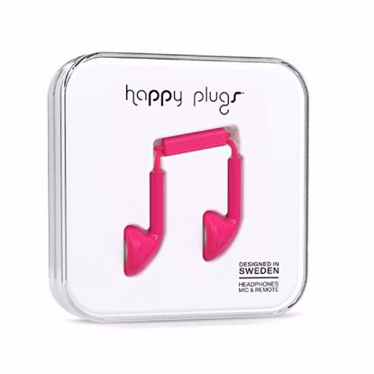 Picture of Trade Happy Plugs Earbud Wired Earphones in Cerise