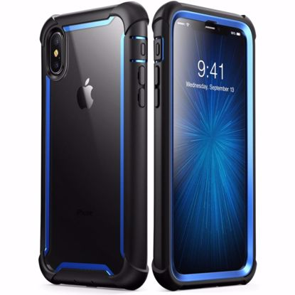 Picture of i-Blason i-Blason Ares Clear Case with Screen Protector for Apple iPhone XS Max in Blue