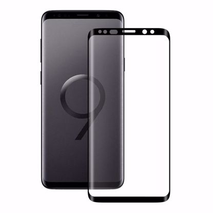 Picture of Eiger Eiger 3D GLASS Full Screen Tempered Glass Screen Protector for Samsung Galaxy S9+ in Clear/Black