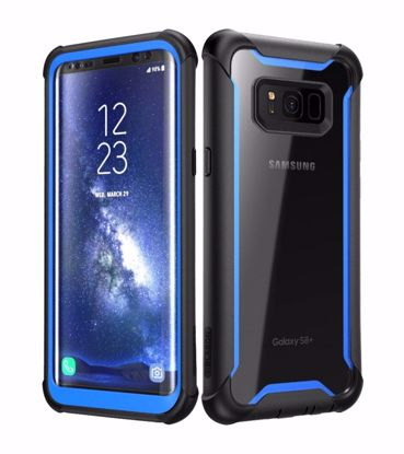 Picture of i-Blason i-Blason Ares Case with Built-In Screen Protector for Samsung Galaxy S8+ in Black/Blue