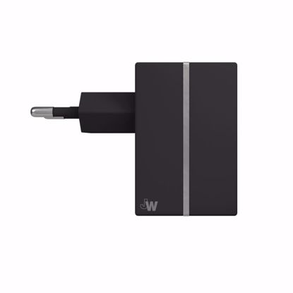 Picture of Just Wireless Just Wireless 2.1A EU Mains Charger (No Cable) in Black