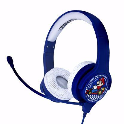 Picture of OTL OTL Nintendo Mario Kart Interactive Headphones with Boom Microphone in Blue