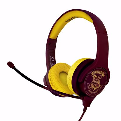Picture of OTL OTL Harry Potter Hogwarts Interactive Headphones with Boom Microphone in Red/Yellow